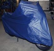 MOTO PROFESSIONAL Hög kvalitet MC kapell, blå, size L